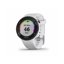 Garmin Forerunner 45s, 39MM Easy-to-Use GPS Running Watch with Garmin Coach Free Training Plan Support (White)