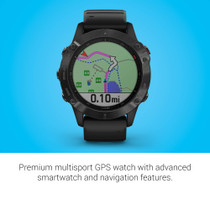 Garmin Fenix 6 Pro, Premium Multisport GPS Watch, Features Mapping, Music, Grade-Adjusted Pace Guidance and Pulse Ox Sensors (Black)