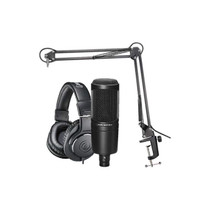 Audio-Technica AT2020PK Vocal Microphone Pack for Streaming & Podcasting (Black)