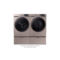 Samsung WF45R6100AC - 4.5 cu. ft. High-Efficiency Champagne Front Load Washing Machine with Steam