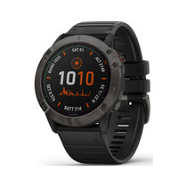 Garmin Fenix 6X Pro Solar - Premium Multisport GPS Watch with Solar Charging - Dark Gray with Black Band