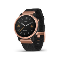 Garmin Fenix 6S Sapphire - Premium Multisport GPS Watch - Smaller-Sized - Rose Gold with Black Nylon Band