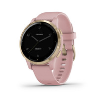 Garmin vívoactive 4S - Smaller-Sized GPS Smartwatch - Light Gold with Light Pink Band