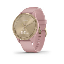 Garmin vívomove 3S - Hybrid Smartwatch with Real Watch Hands and Hidden Touchscreen Display - Gold with Rose Case and Band