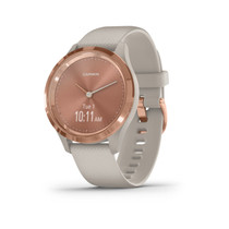 Garmin vívomove 3S - Hybrid Smartwatch with Real Watch Hands and Hidden Touchscreen Display - Rose Gold with Light Sand Case and Band