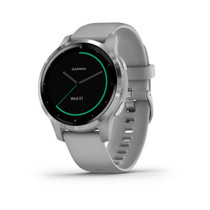 Garmin vívoactive 4S - Smaller-Sized GPS Smartwatch - Silver with Gray Band