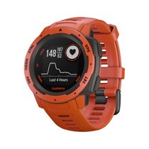 Garmin Instinct - Rugged Outdoor Watch with GPS - Flame Red