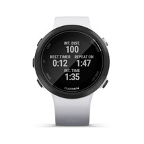 Garmin Swim 2 - GPS Swimming Smartwatch for Pool and Open Water - White - with PowerBank, USB Car Charger, USB Wall Charger, EZEE Bundle!