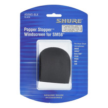 Shure A58WS-BLK Foam Windscreen for All Shure Ball Type Microphones - Black
