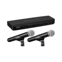 Shure BLX288/PG58 Dual Channel Wireless Microphone System with 2 PG58 Handheld Vocal Mics (H10: 542 to 572 MHz)