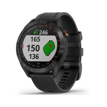 Garmin Approach S40 - Stylish GPS Golf Smartwatch - Lightweight with Touchscreen Display - Black - 010-02140-01 - Black stainless with black band