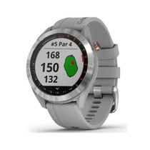 Garmin Approach S40 - Stylish GPS Golf Smartwatch - Lightweight with Touchscreen Display - Gray/Stainless Steel