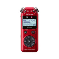 Tascam DR-05X RED Stereo Handheld Digital Recorder and USB Audio Interface
