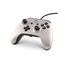 PowerA - Officially Licensed Xbox One Enhanced Wired Controller (Xbox One) - Brushed Aluminum