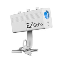 Chauvet DJ EZGOBO Battery-Powered LED Gobo Projector w/Manual Zoom DJ Effect Light (White)