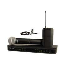 Shure BLX1288/CVL Dual Channel Wireless Microphone System with PG58 Handheld and CVL Lavalier Mics (J10: 584 to 608 MHz)