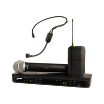 Shure BLX1288/P31 Dual Channel Wireless Microphone System with PG58 Handheld and PGA31 Headset Mics (J10: 584 - 608 MHz)