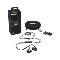 Shure SE215-K-UNI Sound Isolating Earphones with Inline Remote & Mic for iOS/Android -Black