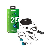 Shure SE215SPE-B-BT1 Wireless Sound Isolating Earphones with Bluetooth Enabled Communication Cable - Blue