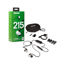 Shure SE215SPE-W-BT1 Wireless Sound Isolating Earphones with Bluetooth Enabled Communication Cable - White