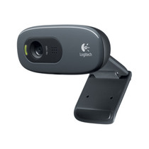 Logitech C270 USB 2.0 720p High-Definition Webcam - Black