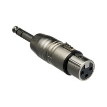 Hosa GXP-143 XLR3F to 1/4 in TRS Adaptor - Designed to Adapt an XLR3M to a Balanced Phone Input