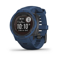 Garmin Instinct Solar - Rugged Outdoor Watch - Solar Battery - Tidal Blue