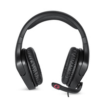 GLOLINK Black Stingers Gaming Headset for PC Xbox One PS4 Wii U Game Headphone With Microphone (No Microphone mute)