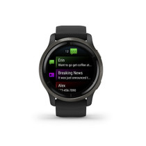 Garmin Venu 2S, Smaller-Sized GPS Smartwatch with Advanced Health Monitoring and Fitness Features, Slate Bezel with Graphite Case and Silicone Band, (010-02429-00)