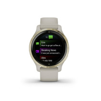 Garmin Venu 2S, Smaller-Sized GPS Smartwatch with Advanced Health Monitoring and Fitness Features, Light Gold Bezel with Tan Case and Silicone Band, (010-02429-01)