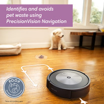 iRobot Roomba j7 (7150) Wi-Fi Connected Robot Vacuum - Identifies and avoids Obstacles Like pet Waste & Cords, Smart Mapping, Works with Alexa, Ideal for Pet Hair, Carpets, Hard Floors