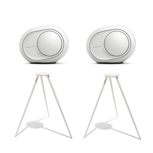 Devialet Phantom Reactor 900 Watts - 98 dB Dual System Bundle with (2) Devialet Legs in White (4 Items)