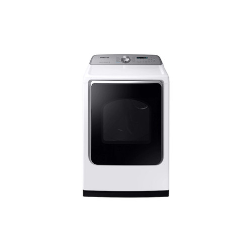 Samsung DVG54R7200W - 7.4 cu. ft. 120-Volt White Gas Vented Dryer with Steam Sanitize and Sensor Dry ENERGY STAR