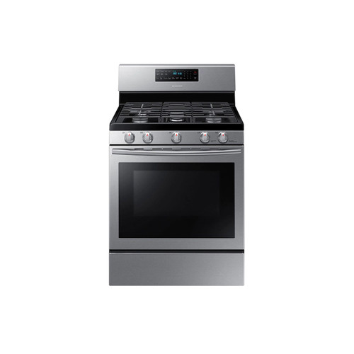 Samsung NX58H5600SS - 30 in. 5.8 cu. ft. Gas Range with Self-Cleaning and Fan Convection Oven in Stainless Steel