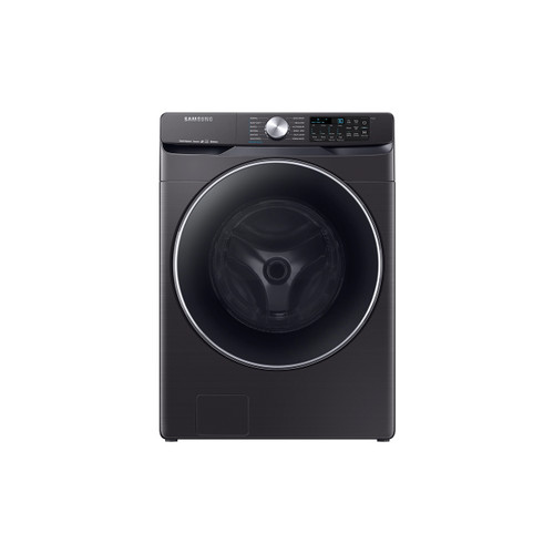Samsung WF45R6300AV - 4.5 cu. ft. High-Efficiency Fingerprint Resistant Black Stainless Front Load Washing Machine with Steam and Super Speed