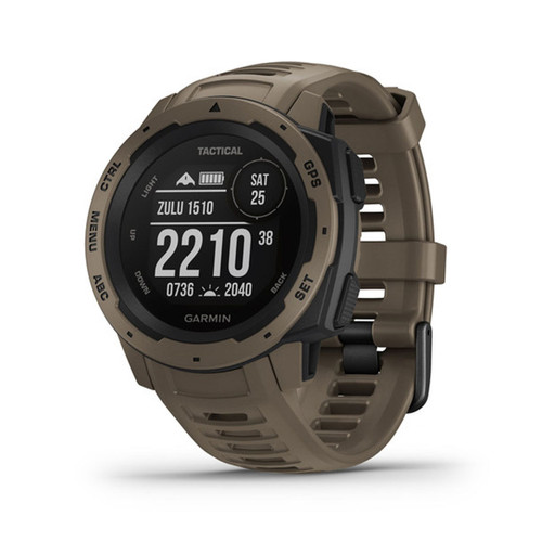 Garmin Instinct - Rugged Outdoor Watch with GPS - Tactical Coyote Tan