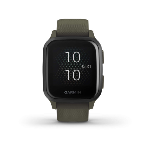 Garmin Venu Sq Music, GPS Smartwatch with Bright Touchscreen Display, Features Music and Up to 6 Days of Battery Life, Slate and Moss Green