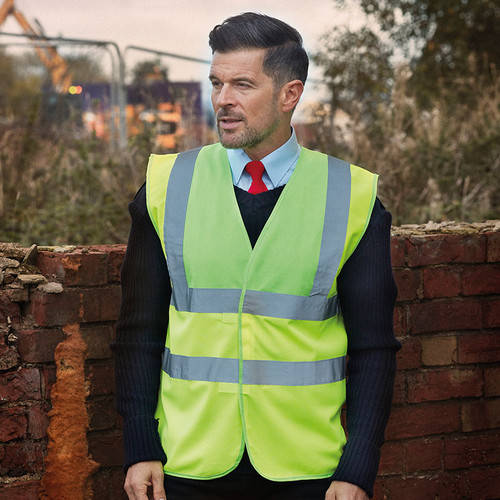 Yoko Hi Vis 2 Band And Braces Waistcoat Dual Colour from IronTree Designs