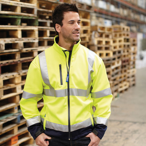 Yoko Hi Vis Softshell Jacket from IronTree Designs