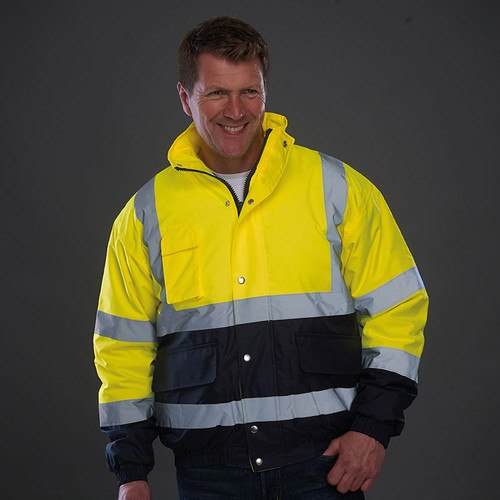 Yoko Hi Vis Two Tone Bamber Jacket from IronTree Designs