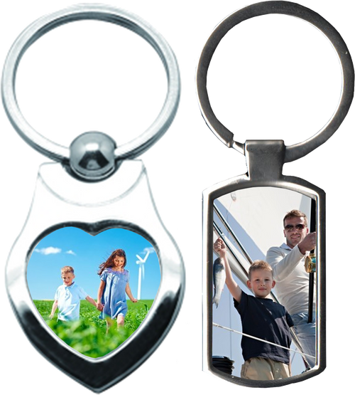 Keyring heart  or rectangle