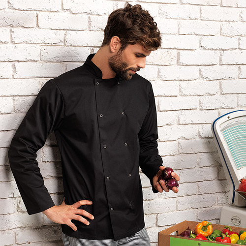 PR665 long sleeve chef jacket