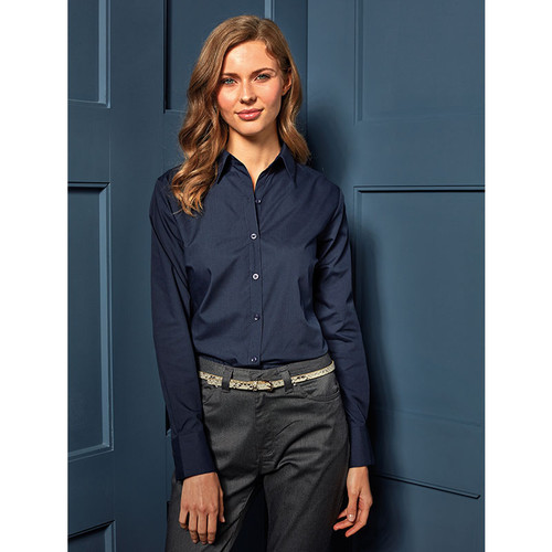 Womens Long Sleeve Poplin Blouse from IronTree Designs