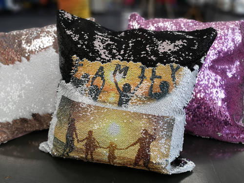Printable Sequin Mermaid Cushion Covers