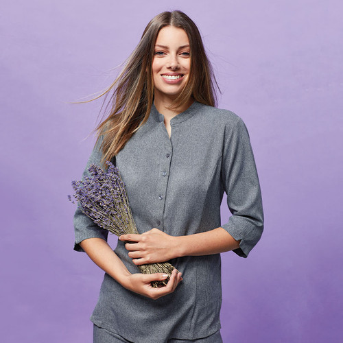 Verbena 'Linen Look' Button-up Beauty Tunic from IronTree Designs