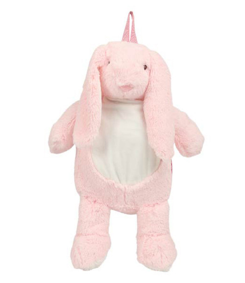 Mumbles Zippy Bunny Backpack from Irontree Designs front