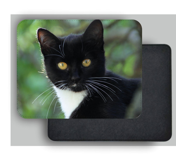 mousemat pu leather cat