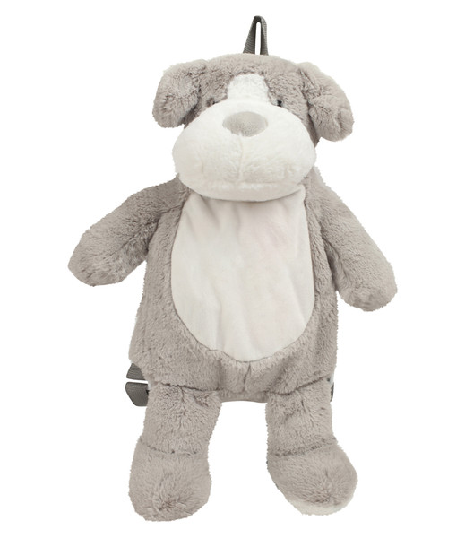 Mumbles Zippies Dog Backpack from IronTree Designs front view