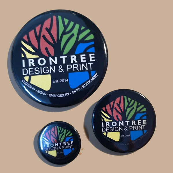 Pin badges from IronTree Designs