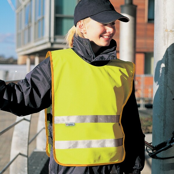 RS212B - Result Safe-Guard Kids Hi-Vis Tabard by IronTree Designs
